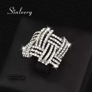 Big Hallow Weave Shaped Ring
